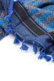 Écharpe arabe bleue d'isolement sur le fond blanc Images stock