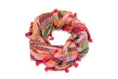 Écharpe arabe colorée d'isolement sur le fond blanc Photo stock