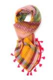 Écharpe arabe colorée d'isolement sur le fond blanc Image stock