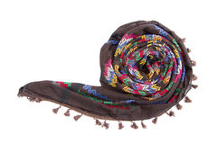 Écharpe arabe colorée d'isolement sur le fond blanc Photographie stock