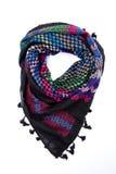 Écharpe arabe colorée d'isolement sur le fond blanc Photos libres de droits