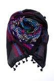 Écharpe arabe colorée d'isolement sur le fond blanc Photos stock