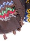 Écharpe arabe colorée sur le fond blanc Images libres de droits