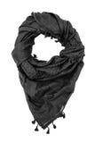 Écharpe arabe noire sur le fond blanc Images stock
