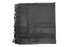 Écharpe arabe noire sur le fond blanc Photo libre de droits