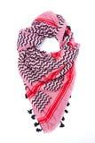 Écharpe arabe rose d'isolement sur le fond blanc Photos stock