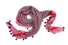 Écharpe arabe rose sur le fond blanc Photos stock