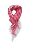 Écharpe arabe rouge d'isolement sur le fond blanc Photographie stock libre de droits