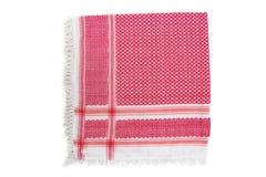 Écharpe arabe rouge d'isolement sur le fond blanc Images stock