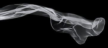 Écharpe blanche sur un fond noir Photographie stock