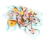 Écharpe colorée d'été d'isolement sur le blanc Photographie stock