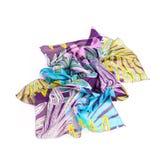 Écharpe colorée d'été d'isolement sur le blanc Photos libres de droits