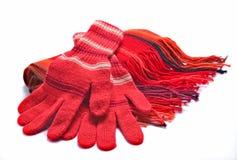 écharpe de gants images stock