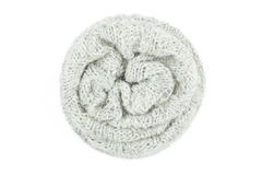 Écharpe de laine d'isolement sur le fond blanc Image stock