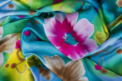 Écharpe en soie Photo stock