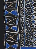 Écharpe en soie avec les modèles géométriques Photographie stock libre de droits