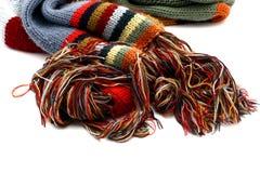 Écharpe et gants - d'isolement Photo stock
