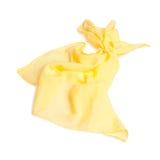 Écharpe jaune d'été d'isolement sur le blanc Photographie stock