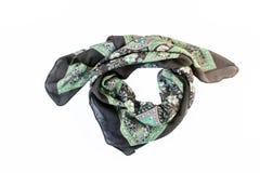 écharpe modelée colorée, foulard d'isolement sur le backgroun blanc Photographie stock