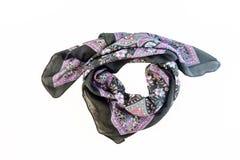 écharpe modelée colorée, foulard d'isolement sur le backgroun blanc Images libres de droits