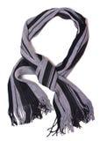 Écharpe noire et grise photographie stock
