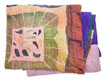 Écharpe piquée du batik en soie peint serré Image stock