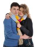 Écharpe pour des couples photo libre de droits