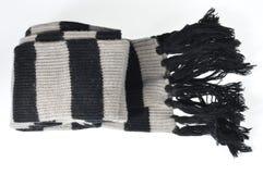 Écharpe rayée noire et blanche Photographie stock libre de droits