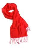 Écharpe rouge Photographie stock