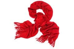 Écharpe rouge Photo stock