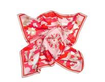 Écharpe rouge de soie d'ornement Photographie stock libre de droits