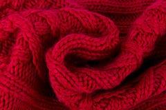 Écharpe tricotée par rouge Photo libre de droits