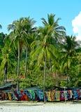 Écharpes colorées à vendre Photo libre de droits