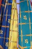 Écharpes colorées Photos libres de droits