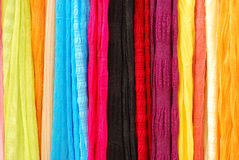 Écharpes colorées Photographie stock