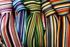 Écharpes colorées Images libres de droits