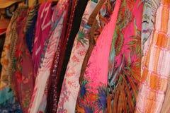 Écharpes colorées Image stock