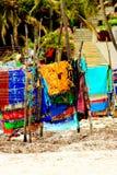Écharpes colorées Photo stock