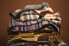 Écharpes d'hiver Image libre de droits