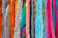 Écharpes de couleur Images libres de droits