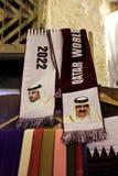 Écharpes de coupe du monde de Doha en vente Photos stock