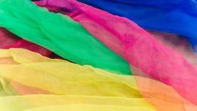 Écharpes en gros plan de couleur photos stock