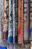 Écharpes en soie Photos libres de droits