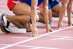 Échauffement d'athlètes