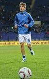 Échauffement de joueurs de Sampdoria Gênes Photos libres de droits