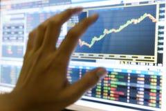 Échec d'investissement sur le marché boursier. Blurriness de marché boursier Photographie stock