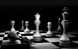 Échec et mat 3D de concept d'échecs Photos stock