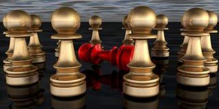 échecs 3D Photos libres de droits
