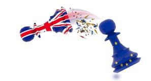 Échecs de gage d'Union européenne de Brexit l'Europe - rendu 3d illustration libre de droits