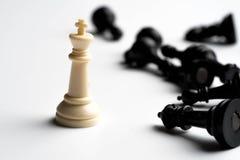 échecs de marbre de marbre de roi de pièces d'échecs Photos libres de droits